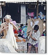 Labour And Sweat Acrylic Print by Kantilal Patel