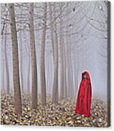 Lady In Red - 7 Acrylic Print by Okan YILMAZ