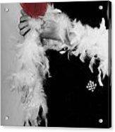 Lady With Heart Acrylic Print by Joana Kruse