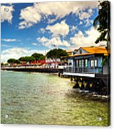 Lahaina Post Card 2 Acrylic Print by Kelly Wade
