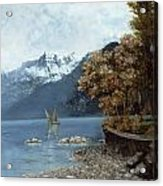 Lake Leman Acrylic Print by Gustave Courbet