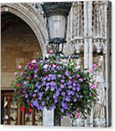 Lamp And Lace At The Grand Place Acrylic Print by Carol Groenen