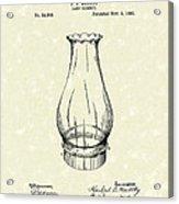 Lamp Chimney 1895 Patent Art Acrylic Print by Prior Art Design
