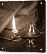 Lamp Of Learning Acrylic Print by Tom Mc Nemar