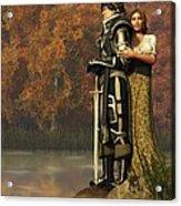 Lancelot And Guinevere Acrylic Print by Daniel Eskridge
