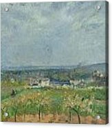 Landscape In Pontoise Acrylic Print by Camille Pissarro