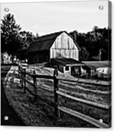 Langus Farms Black And White Acrylic Print by Jim Finch