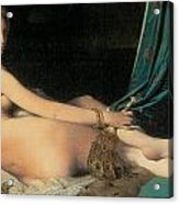 Large Odalisque Acrylic Print by Jean-August-Dominique Ingres