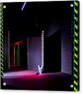 Laser Game Playing Space With Narrow Acrylic Print by Corepics