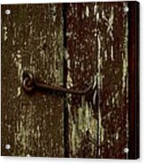 Latch Acrylic Print by The Stone Age