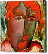 Laubar Face Adele Acrylic Print by Laurens  Barnard