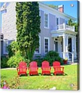 Lawn Chairs Acrylic Print by Randall Weidner