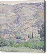 Le Ragas Near Toulon Acrylic Print by Camille Pissarro