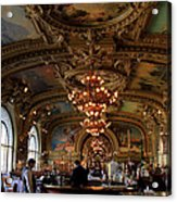 Le Train Bleu Acrylic Print by Andrew Fare