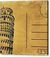 Leaning Tower Of Pisa Postcard Acrylic Print by Setsiri Silapasuwanchai