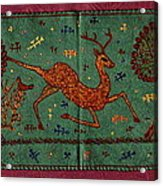 Leaping Gazelle Acrylic Print by Siran Ajel