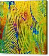 Leaves In The Jungle Acrylic Print by Judi Bagwell