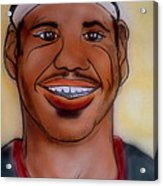 Lebron James Acrylic Print by Pete Maier