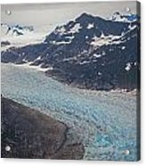 Leconte Glacial Flow Acrylic Print by Mike Reid