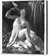 Leda And The Swan Acrylic Print by Granger