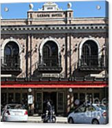 Ledson Hotel - Downtown Sonoma California - 5d19268 Acrylic Print by Wingsdomain Art and Photography