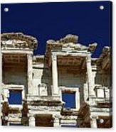 Library Of Celsus In Ephesus Acrylic Print by Sally Weigand