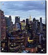 Life In The Big City Acrylic Print by Janet Fikar