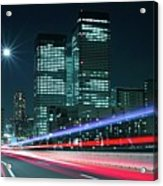 Light Trails On The Street In Tokyo Acrylic Print by >>>>sample Image>>>>>>>>>>>>>>