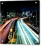 Light Trails Acrylic Print by Photo by ball1515