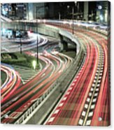 Light Trails Acrylic Print by Spiraldelight