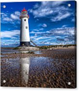 Lighthouse Reflections Acrylic Print by Adrian Evans