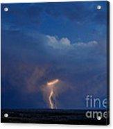 Lightning Strike Acrylic Print by Chris  Brewington Photography LLC