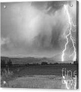 Lightning Striking Longs Peak Foothills 6bw Acrylic Print by James BO  Insogna