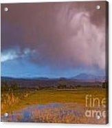 Lightning Striking Longs Peak Foothills 7 Acrylic Print by James BO  Insogna