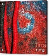 Lined Up Reds     Acrylic Print by Alexandra Jordankova