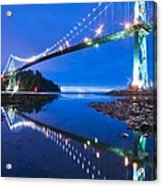 Lions Gate Bridge, Vancouver, Canada Acrylic Print by David Nunuk