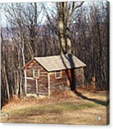 Little House In The Woods Acrylic Print by Robert Margetts