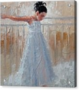 Little Lady Acrylic Print by Laura Lee Zanghetti