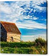 Little Shed On The Prairie Acrylic Print by Matt Dobson