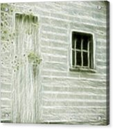 Little White Building Onaping Acrylic Print by Marjorie Imbeau