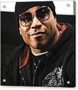 Ll Cool J At The Press Conference Acrylic Print by Everett