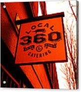 Local 360 In Orange Acrylic Print by Kym Backland