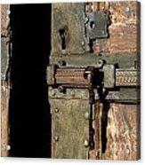 Lock Of Church. France Acrylic Print by Bernard Jaubert