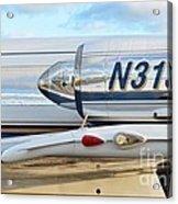 Lockheed Jet Star Engine Acrylic Print by Lynda Dawson-Youngclaus