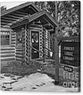 Log Cabin Library 11 Acrylic Print by Jim Wright
