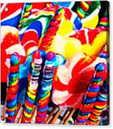 Lollipops - Painterly - Red Acrylic Print by Wingsdomain Art and Photography
