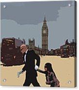 London Matrix Baddie Agent Smith Acrylic Print by Jasna Buncic