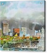 Longfellow Bridge Boston Acrylic Print by Harding Bush