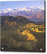Looking At Panamint Range Acrylic Print by Tim Fitzharris