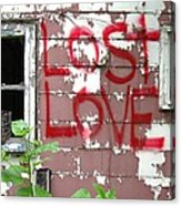 Lost Love Acrylic Print by Todd Sherlock